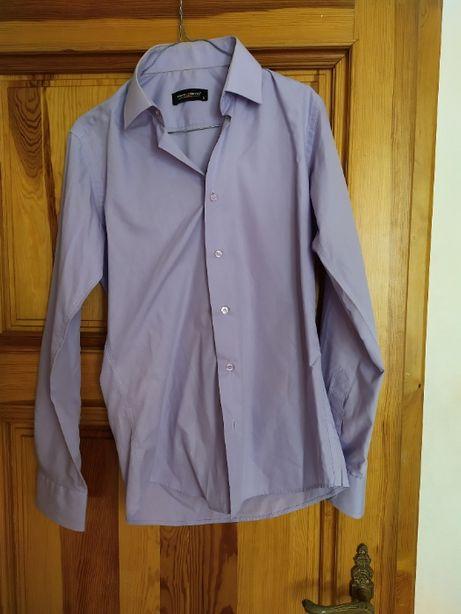 Koszula męska Pako Lorente fioletowa rozmiar S slim fit