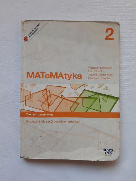 Matematyka 2 -podręcznik, poziom podstawowy i rozszerzony.