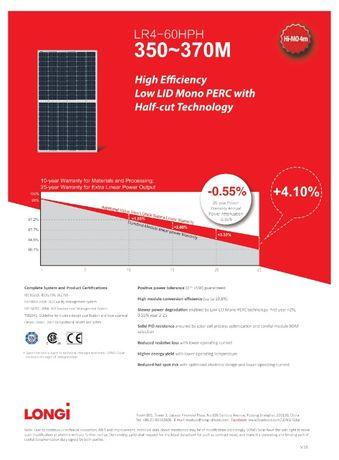 Panele Fotowoltaiczne LONGi LR4-60HPH-355M Mono Perc Half-Cut