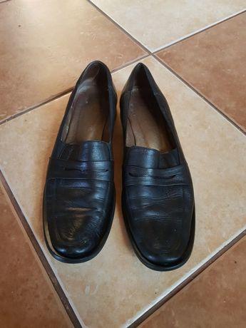 Buty półbuty mokasyny skórzane skóra roz 37