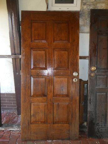 drzwi zewnętrzne wejściowe- 203x90- dębowe- bez ościeżnicy