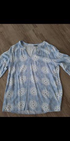 Bluzka Pepco rozmiary l biało-niebieska