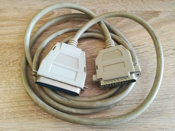 Kabel do drukarki, złącze równoległe 25-biegunowe/centronics, 1,8 m