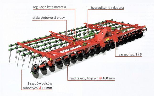 Brona mulczowa AGRO-MASZ BM75 7,5m chwastownik