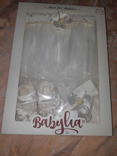 Набор комплект на крещение платье на выписку