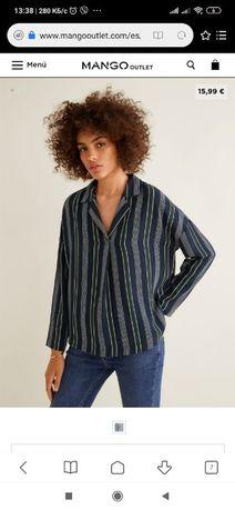 Блузка рубашка Mango M