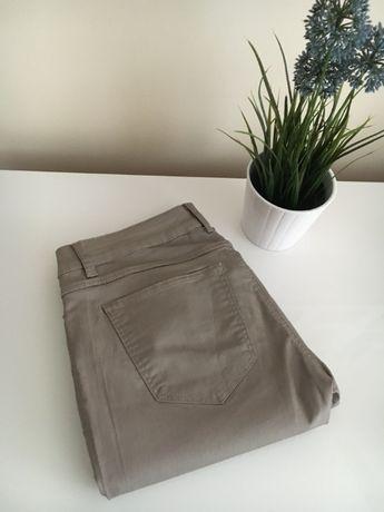 Spodnie woskowane brązowe z suwakami rozm.40 L /Promod