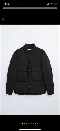 Куртка сорочка рубашка zara ( cos arket ) пухофик s