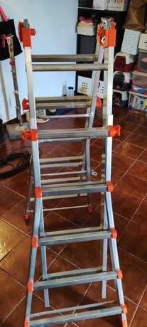 Escada dobrável aluminio até 5 metros. Dexter