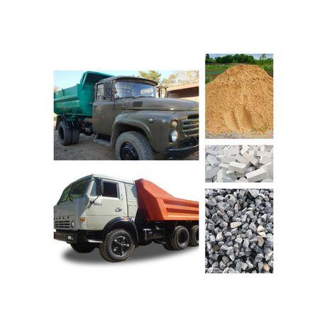 Продам с доставкой:песок, щебень,б/у щебень,кирпич(новый и б/у),отсев.