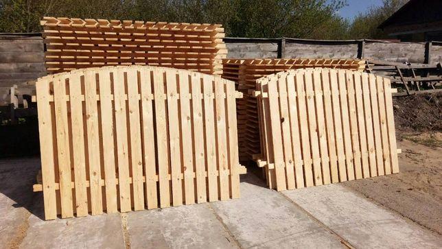 Деревяный забор, Забор готовыми секциями