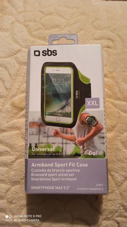 """Etui, uchwyt na ramie na smartfon do 5.5"""" Do biegania, ćwiczeń. Nowy!"""