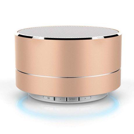 Głośnik bezprzewodowy A10 mini złoty zestaw głośnomówiący do samochodu
