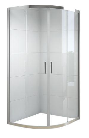 Kabina prysznicowa NIVO 100x100 rozsuwana przezroczysta półokrągła