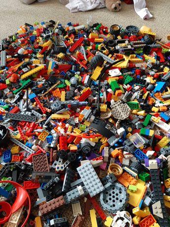 Klocki Lego 5kg ninjago, kilkanaście figurek
