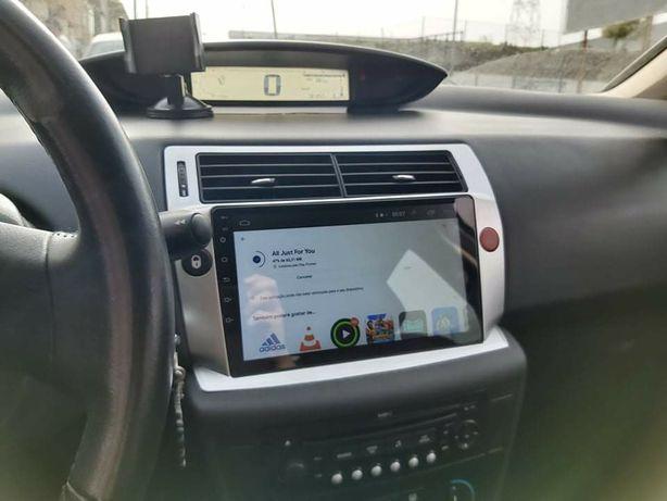 AutoRadio ParaCitroën C4 _Android 10 -2G+16Gb/32Gb+Câmera/GPS_ Wif