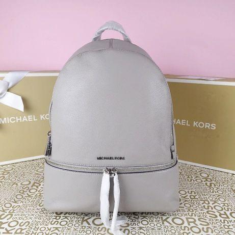 Кожаный рюкзак Michael Kors grey large оригинал Майкл Корс