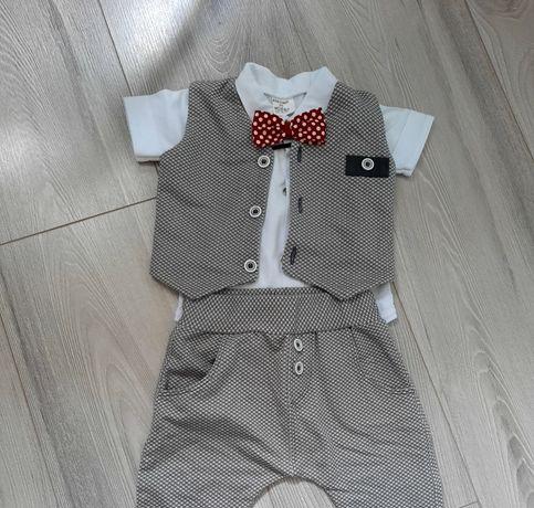 Ubranko do chrztu dla chłopca, rozmiar 68, gratis buciki