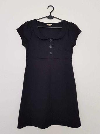 Trapezowa sukienka z kołnierzykiem