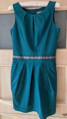 Zielona butelkowa sukienka na święta Troll S elegancka