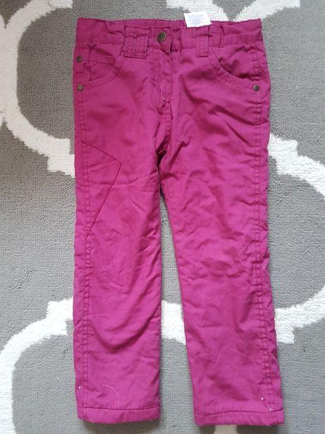Spodnie ocieplane na wzrost 104