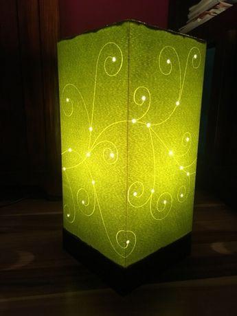 Lampa stołowa/ Lampka nocna + Abażur, zielone