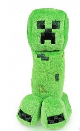 "Мягкая игрушка ""Крипер""из игры Майнкрафт 18см Creeper Minecraft Mojang"