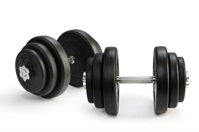 Гантели 2х20 кг (Металлический Гриф)