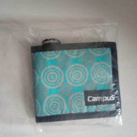 nowy portfel campus goro turkus-szary