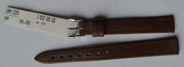 Brązowy damski pasek do zegarka 12 mm. Nowy! Skórzany! Wysoka jakość!