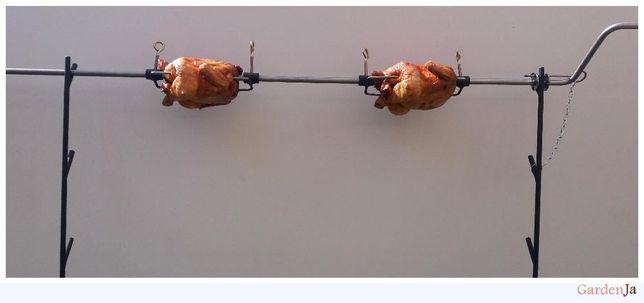 Rożen ruszt rożno grill na kurczaki kuty ozdoba ruszt