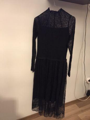 Sukienka dzianiknowo- koronkowa