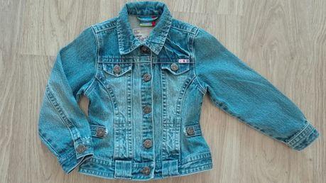 Kurtka jeans dziewczynka 110
