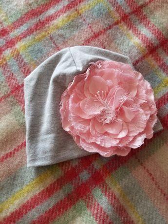 Шапка шапочка кепка на дівчинку до 6-9міс