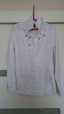 Biała koszula rozm.128
