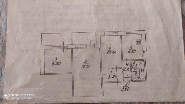 Продам 3х комнатную квартиру по ул.Соборности
