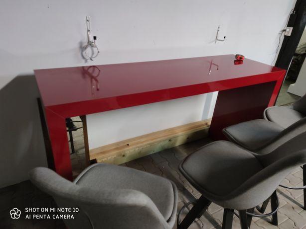 Stół czerwony plus 4 Hokery