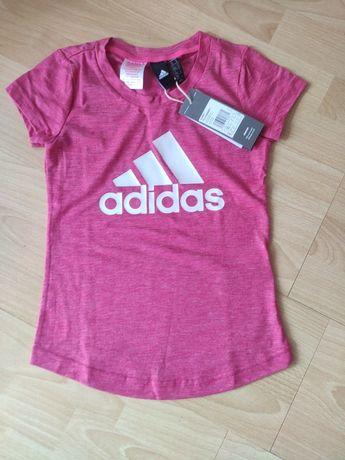 Nowa ADIDAS bluzka , t-shirt dziewczęca 128