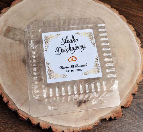 pudełka na ciasto weselne pojemniki na ciasto wesele ślub