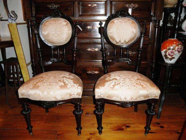Par Cadeiras Pau Santo Restauradas