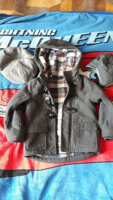 Płaszczyk George chłopiec 2-3 lat roz 92-98 gratis czapki