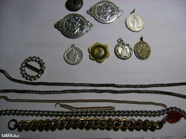 Medaliki łańcuszki przypinki odznaki PRL