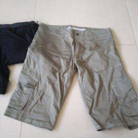 Rewelacyjne spodnie spodenki khaki na rower z wkładką żelową rozm S M