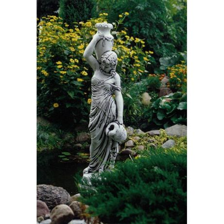 Piękna kobieta z dzbanami fontanna ogrodowa kaskada_oczko wodne_okazja