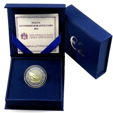 Moeda Comemorativa de 2 Euros em Malta 2011 PP 1849