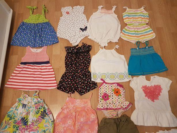 Ubranka letnie na lato sukienki rampersy 12-18 miesięcy roz 86