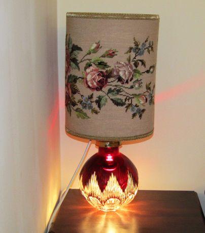 Антикварная лампа светильник хрусталь  62  см. стиль Moser Glass