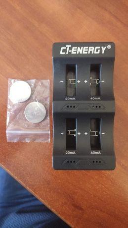 Зарядное устройство nc-02 cr2032 + 2 аккумулятора LIR2032