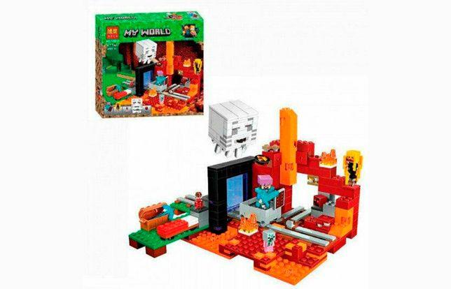"""Конструктор Bela Minecraft 10812 """"Портал в Нижний мир"""", 477 эл, лего."""