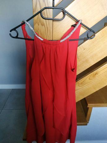Sukienka szyfonowa z kolia